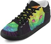 CERLYRUAN Rainbow Space Cat Canvas Chukka Canvas Women's Shoes