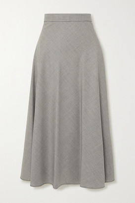 Giuliva Heritage Collection The Ada Houndstooth Wool Midi Skirt - Gray
