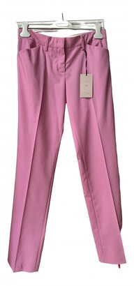 N°21 N21 Pink Wool Trousers for Women