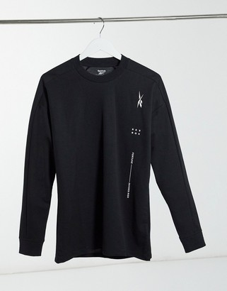 Reebok Training Edgeworks long sleeve t-shirt in black