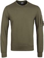 Cp Company Khaki Crew Neck Watchviewer Sweatshirt