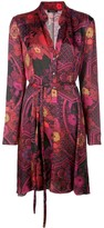 Natori printed shirt dress