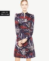 Ann Taylor Floral Mock Neck Dress