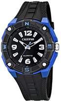 Calypso Men's Quartz Watch with Black Dial Analogue Display and Black Plastic Strap K5634/3