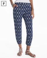 White House Black Market Petite Ikat Printed Knit Crop Pants