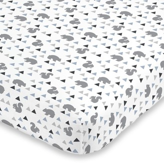 NoJo Mountain Patchwork Fitted Crib Sheet