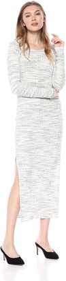 LAmade Women's Long Sleeve Crew Neck Maxi Dress with Slits