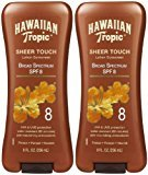 Hawaiian Tropic Sheer Touch Lotion Sunscreen SPF 8, 8 oz, 2 pk by Hawaiian Tropic