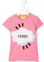 Fendi Cloud T-shirt - kids - Cotton/Spandex/Elastane - 2 yrs