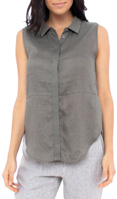 Jump Sleeve-Less Concealed Placket Top