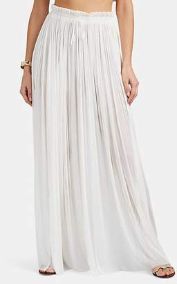 Elena Makri Mykonos Women's Tegea Silk Cover-Up Pants - White