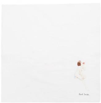 Paul Smith White Naked Lady Pocket Square