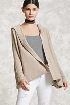 Forever 21 FOREVER 21+ Hooded Open-Front Cardigan
