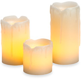 Bed Bath & Beyond Flameless Mini Melted Drip Wax Candles (3-Pack)