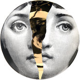 "Fornasetti Face Half Cracked"" Plate"