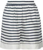 Dolce & Gabbana Striped Silk-twill Shorts - White