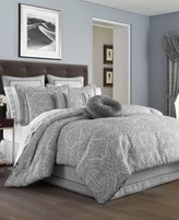J Queen New York Colette Silver King Comforter Set