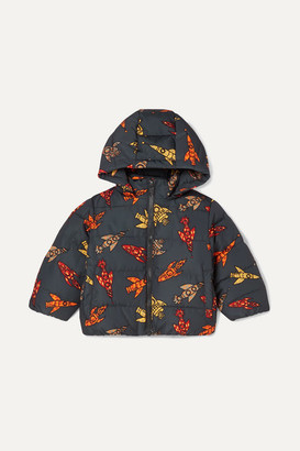 Stella McCartney Printed Quilted Shell Hooded Jacket - Black