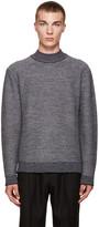 Wooyoungmi Grey Mock Neck Sweater