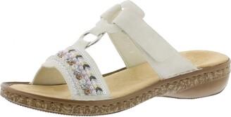 Rieker 628M6 Women Strappy Sandals Summer Shoes Summer Comfortable Flat ice/80 42 EU / 8 UK