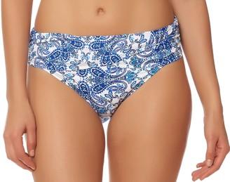 Bleu Rod Beattie Bleu | Rod Beattie Women's Driving Miss Paisley Sarong Hipster Bikini Bottom