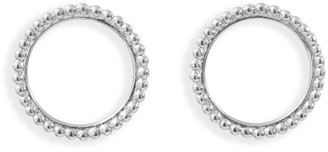 Agnes de Verneuil Circle Pearled Earrings -Silver