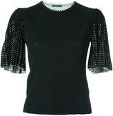 Alexander McQueen round neck knit top - women - Polyamide/Polyester/Spandex/Elastane/Wool - S
