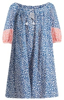 Thierry Colson Eva leaf-print cotton dress