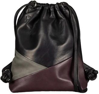 Taylor Yates Mini Mavis Drawstring Backpack In Black/Storm/Plum