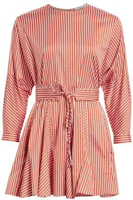 Derek Lam 10 Crosby Belted Stripe Poplin Dress