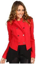 BCBGMAXAZRIA Royce Double Breasted Military Jacket (Rio Red) - Apparel