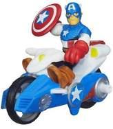 Marvel Playskool Heroes Super Hero Adventures Captain America w/ Shield Racer