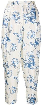 Alberto Biani Floral Print Trousers
