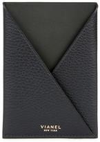 Vianel Black Leather Passport Holder