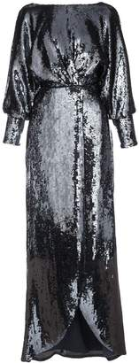 Aidan Mattox long-sleeve maxi dress