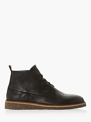Bertie Calgary Grain Wedge Desert Boots, Black