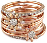 EFFY COLLECTION Diamond Flower Ring in 14 Kt. White and Rose Gold, 0.36 ct. t.w.