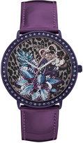 GUESS Women's Purple Leather Strap Watch 43mm U0820L3