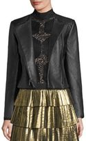 BCBGMAXAZRIA Textured Leather Jacket