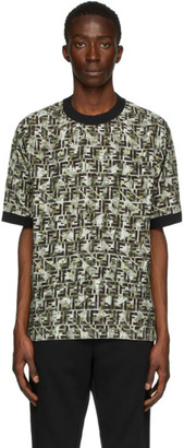 Fendi Green Viscose FF T-Shirt