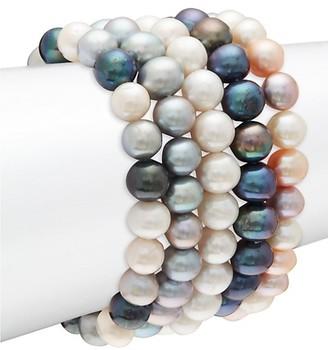 Masako Set of Five 9MM Multicolored Freshwater Pearl Bracelet