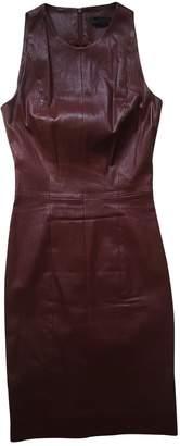 The Row Burgundy Leather Dresses