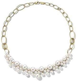 Ippolita 18kt yellow gold Nova bead pattern pearl necklace