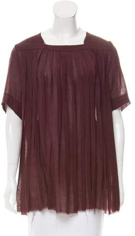 Yang Li Wool Pleated Top