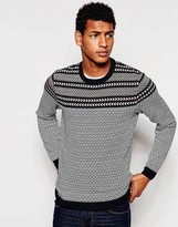 Asos Jumper With Mixed Design - Multi