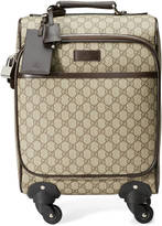 Gucci kid's GG supreme four wheel carry-on suitcase