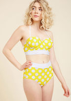 High Dive by ModCloth Sunlight Showcase Swimsuit Top in Dots in L