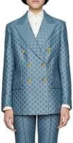 Gucci GG Pattern Double Breasted Blazer