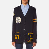Polo Ralph Lauren Women's Varsity Style Cardigan Admiral Navy