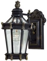 Minka Lavery The Great Outdoors GO 8937 Renaissance 1 Light Outdoor Wall Sconce from the Stratford Hall Collection, Heritage with Gold Highlights